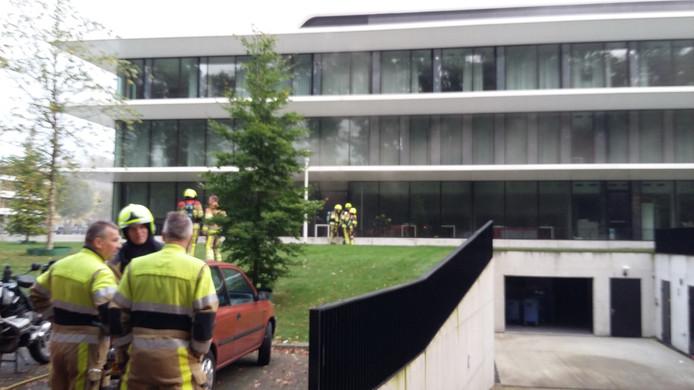 In het Grotiusgebouw van de Radboud Universiteit woedde dinsdagochtend brand.