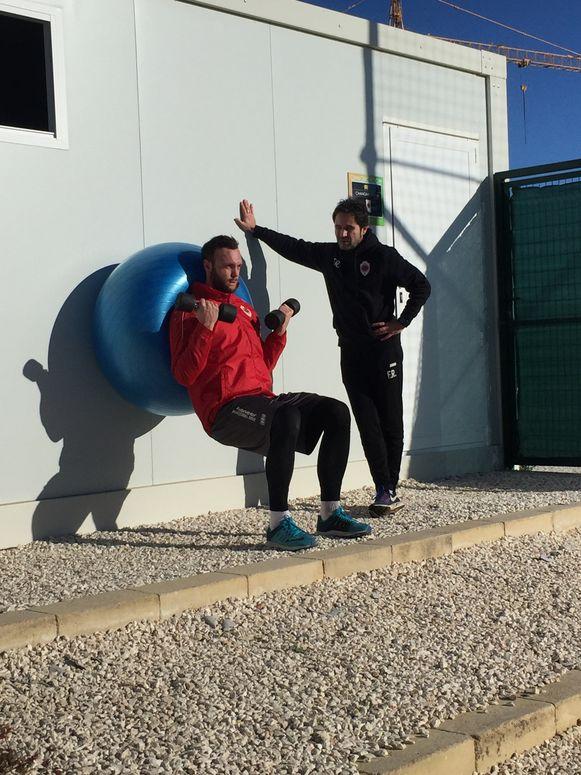Jezina met physical coach Renotte.