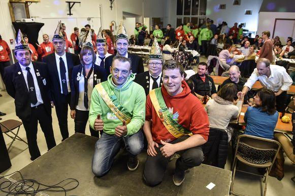 Nico (links) en Toon strijden dit jaar om de titel van Prins Carnaval in Wieze.