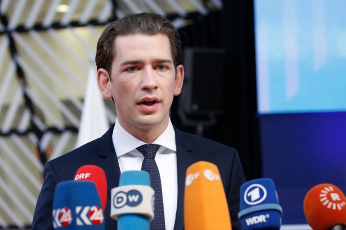 De Oostenrijkse bondskanselier Sebastian Kurz.