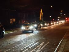 Kettingbotsing met drie auto's veroorzaakt flinke file in Enschede