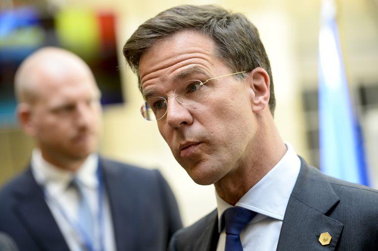 Premier Rutte in Brussel. Beeld belga