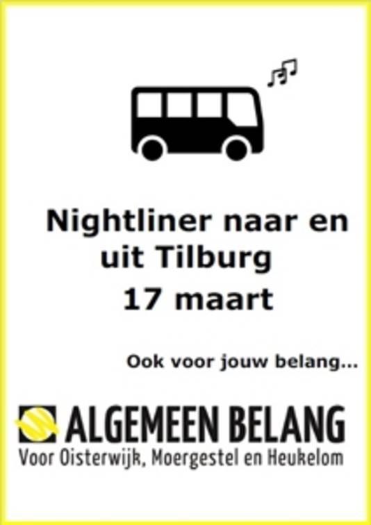 Voor 1 euro kunnen stappende jongeren op 17 maart van een nachtbus gebruik maken.