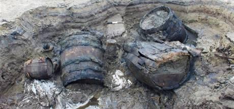 Olijfbladeren en een vreemde kokosnoot: schat ontdekt in scheepswrak Noordoostpolder