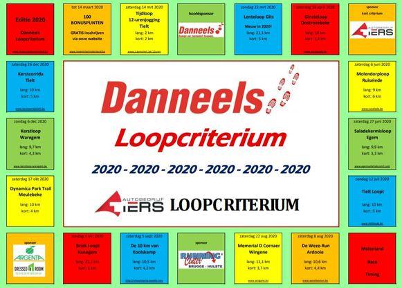 De nieuwe kalender van het Danneels Loopcriterium is vormgegeven als een monopoly-spel