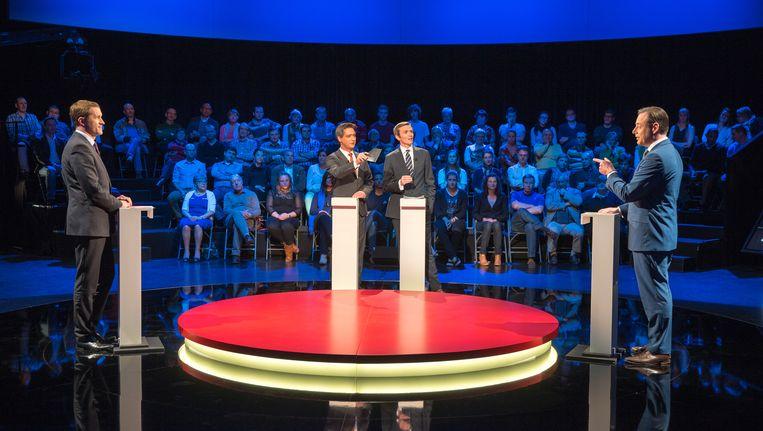 Archiefbeeld van het debat tussen Paul Magnette en Bart De Wever op VTM.