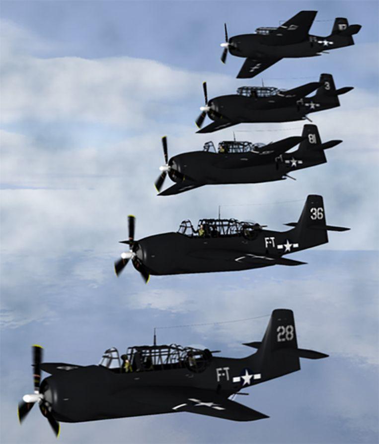 Flight 19, een vlucht van vijf oorlogsvliegtuigen, verdween spoorloos boven de Bermudadriehoek in 1945.