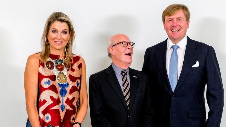 Koning Willem-Alexander en koningin Máxima woonden het eerbetoon aan Van Manen bij. Beeld anp