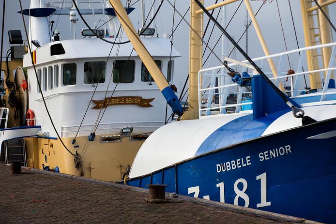 De kotter Z-181 in de haven van Lauwersoog.