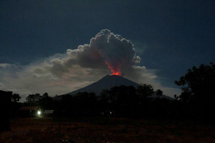 Mount Agung in 2018.