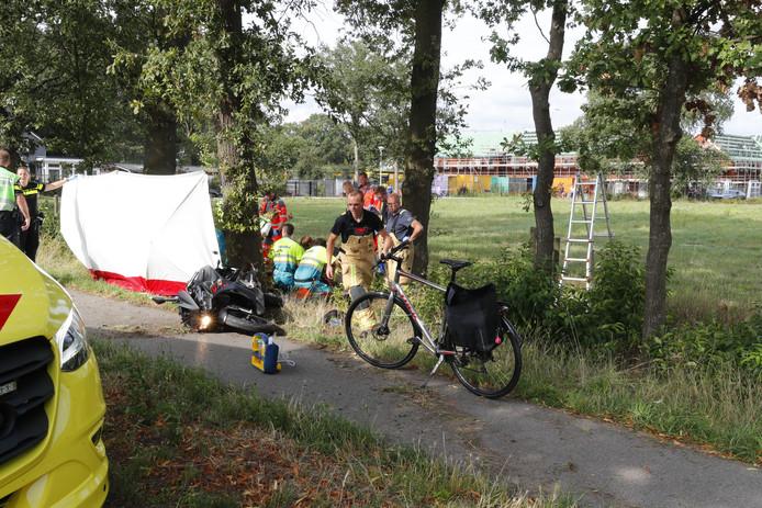 Motorrijder zwaargewond na ongeluk in Valkenswaard.