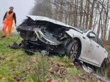 Bestuurder komt met de schrik vrij bij ongeval op A1 bij Borne