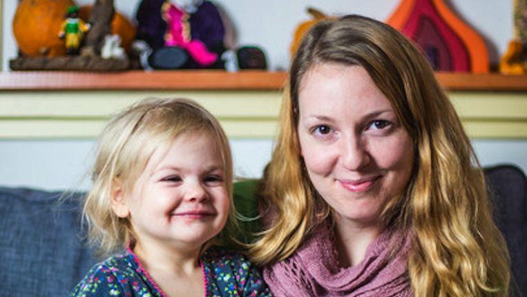 De Goeij met dochter Jade (3) Beeld Eva Plevier