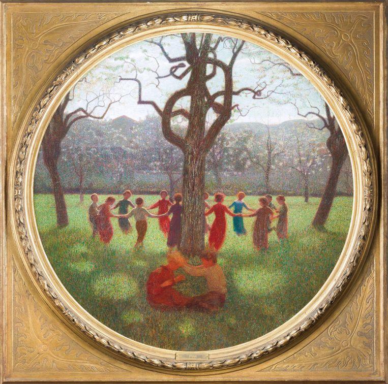 Giuseppe Pellizza, De rondedans (detail), ca. 1906, Galleria d'Arte Moderna, Milaan.  Beeld  Umberto Armiraglio