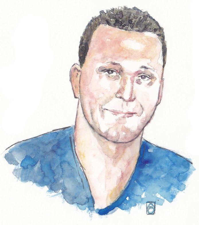 Impressie van de 27-jarige Michael P., verdachte in de vermissingszaak Anne Faber.