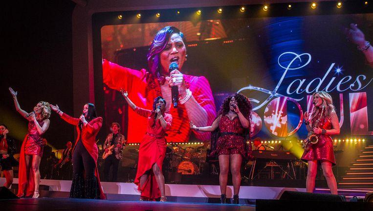 Ladies of Soul bestaat uit Glennis Grace, Edsilia Rombley, Candy Dulfer, Berget Lewis en hun gastartiesten. Beeld anp