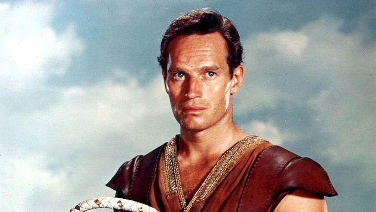 Vlahos was onder meer betrokken bij de inkleuring van Hollywoodspectakel Ben Hur, hier acteur Charlton Heston in de rol van Juda Ben Hur Beeld ANP