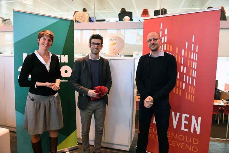 Katrien Rycken, Mohamed Ridouani en Benjamin Caspar van de Europese Commissie stelden eerder ook al het programma van het Grean Leaf-jaar voor.