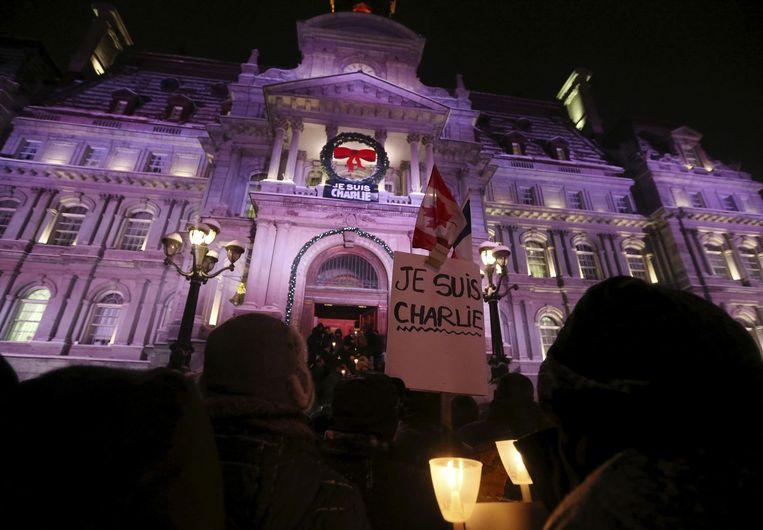 #JeSuisCharlie in Montreal.