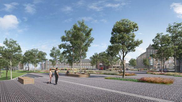 Het nieuwe plein moet de 'oude' binnenstad met het Quartier Bleu verbinden.