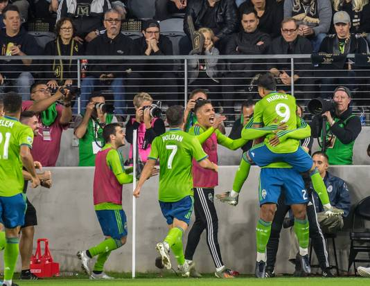Seattle Sounders viert feest in Los Angeles.