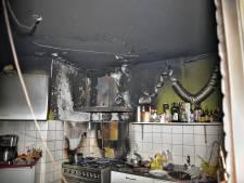 Echtpaar gewond bij keukenbrand in Tilburg, huis is een ravage