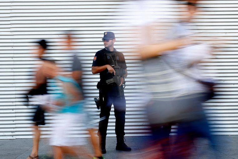 De Catalaanse politie heeft door de ervaring met de ETA militaire kenmerken. Beeld epa
