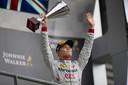 Nyck de Vries na zijn overwinning op het circuit van Spa Francorchamps, eerder dit jaar.