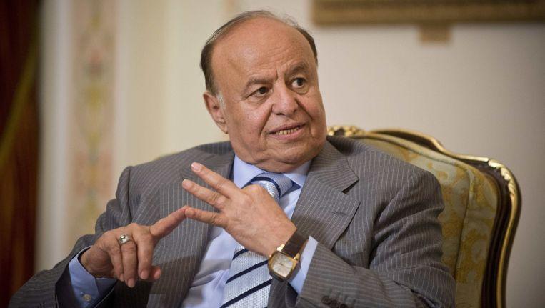 Voormalig president Hadi van Jemen. Beeld ap