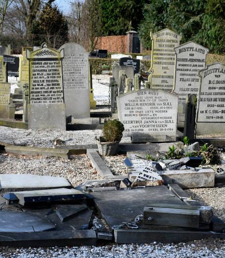 Beschadigde graven nog niet allemaal hersteld