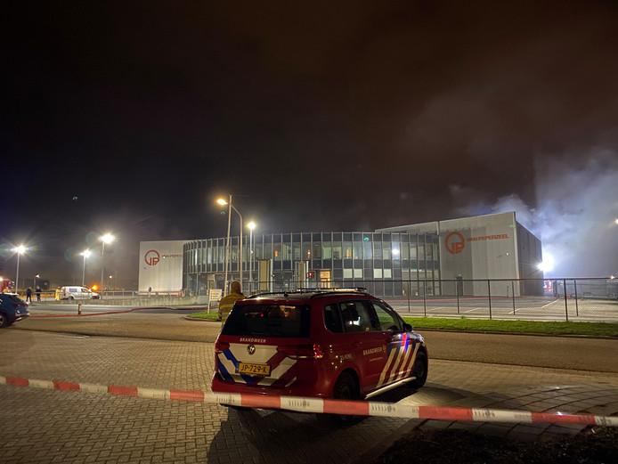Brand bij het accuverwerkingsbedrijf in Lelystad.
