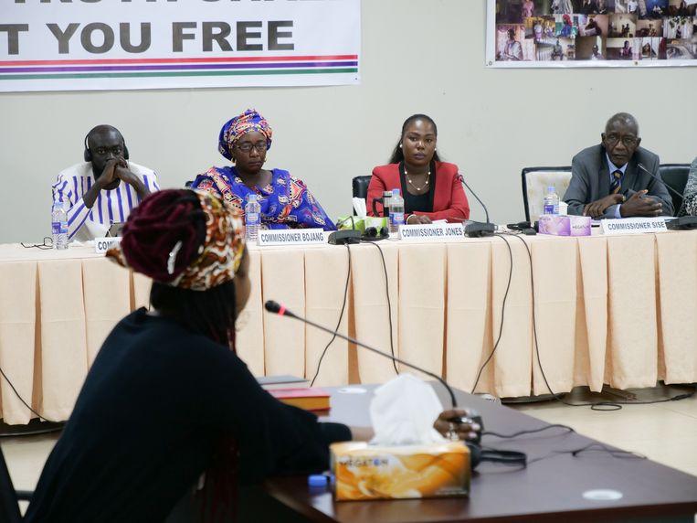 Fatou Jallow zegt door de ex-dictator te zijn verkracht. Beeld AFP