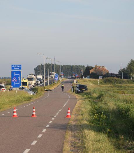 Motorrijder verongelukt op Deltaweg bij Kats