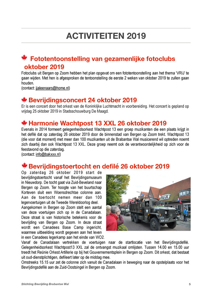 Programma Bevrijding 2019