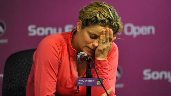 Kim Clijsters est à nouveau blessée. Une rechute de sa blessure aux abdos?
