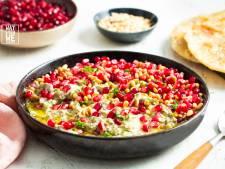 Wat Eten We Vandaag: Rokerige baba ganoush met zelfgemaakt flatbread