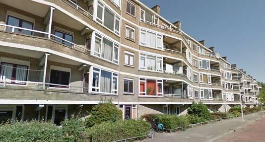 De oude flat aan de Nijeveldsingel.