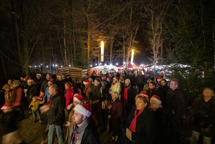 De route van Mystieke Kerst door het Kuinderbos was 1,1 kilometer lang.