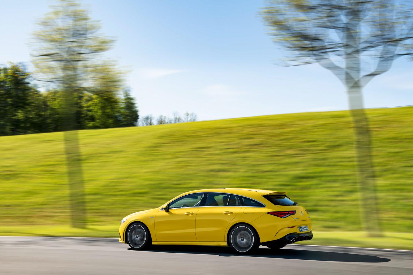 De Mercedes-AMG CLA Shooting Brake is nu al stiller dan zijn voorganger