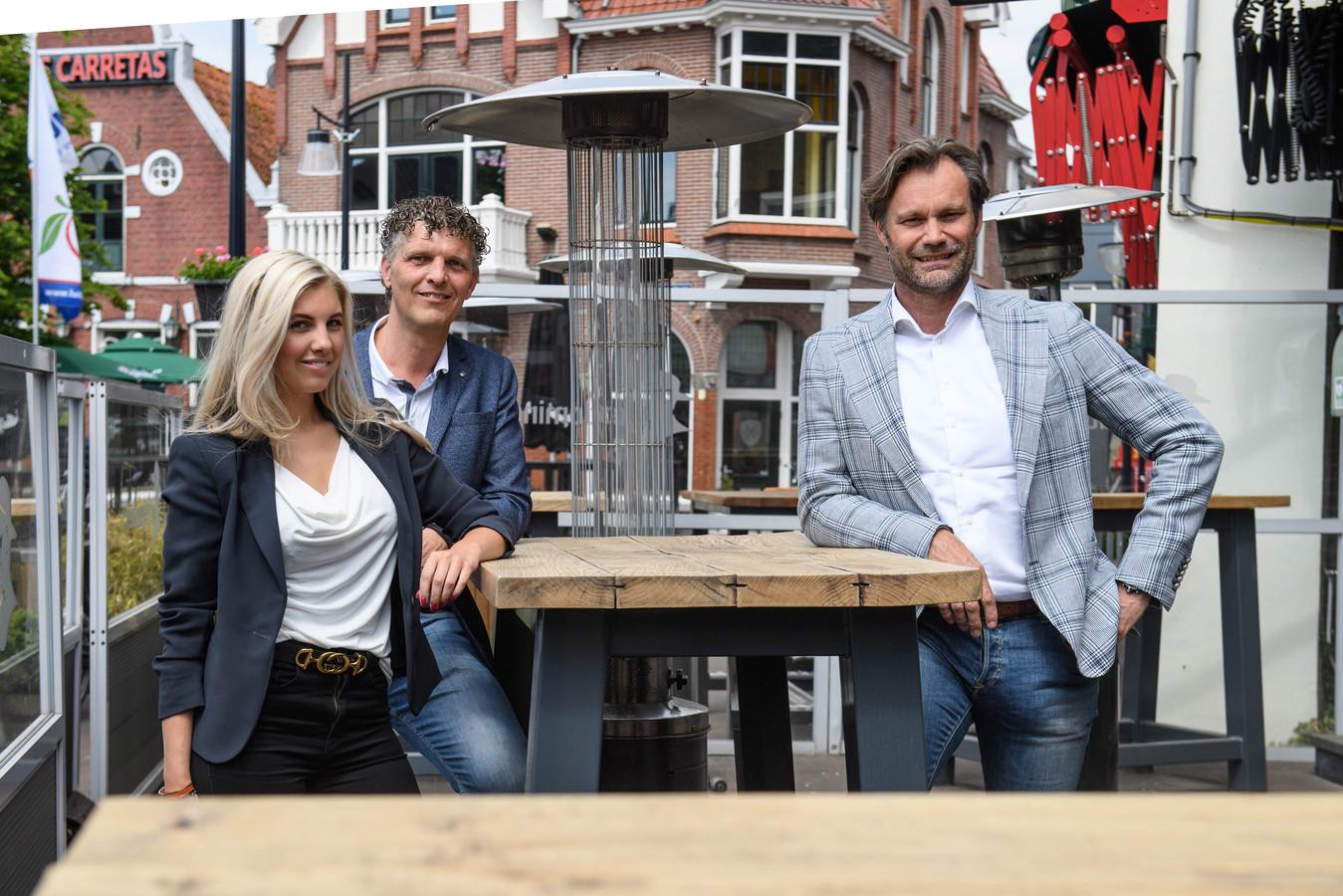 (L-R) Laurie Wissink, Jurgen Wissink en Marcel Roorda, initatiefnemers terrasjeboeken.nl