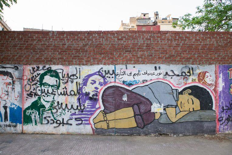 'Het licht van je ogen slaapt op straat', luidt het commentaar bij deze tekening. Beeld Cigdem Yuksel