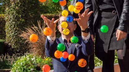 Actie met ballen tegen armoede