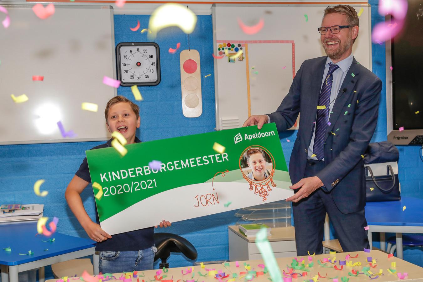 ...hij is de nieuwe kinderburgemeester van Apeldoorn.