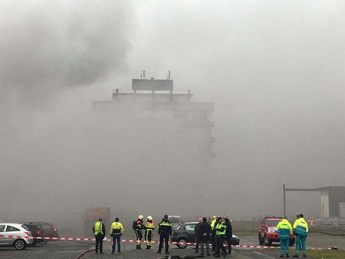 Grote brand in het oude Faam-gebouw in Breda.