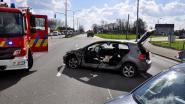 Jeep ramt personenwagen in flank
