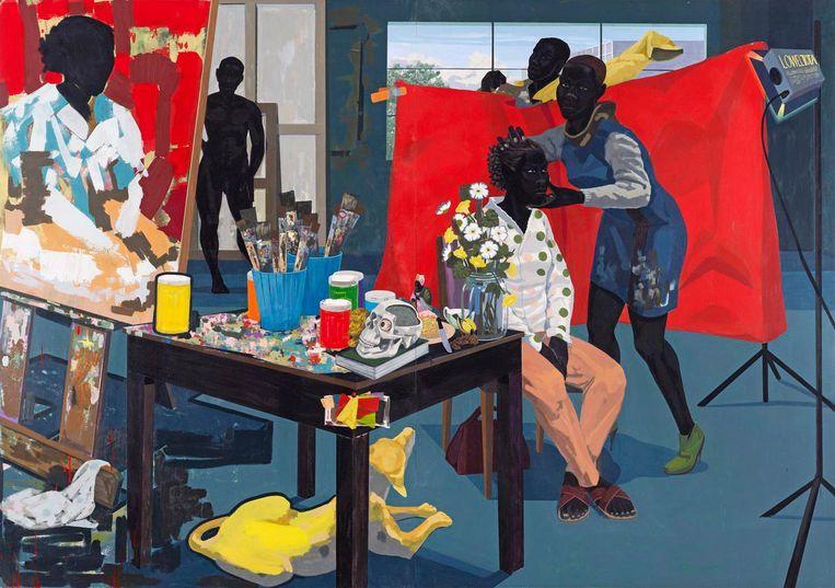 Kerry James Marshall: Untitled (Studio), 2014. Beeld