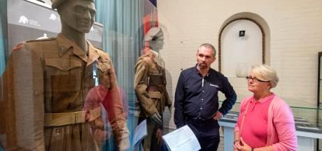Trots op het uniform van generaal Sosabowski, nu te zien in Driel