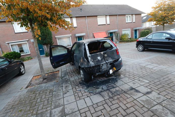 Auto in brand gestoken in Eindhoven.
