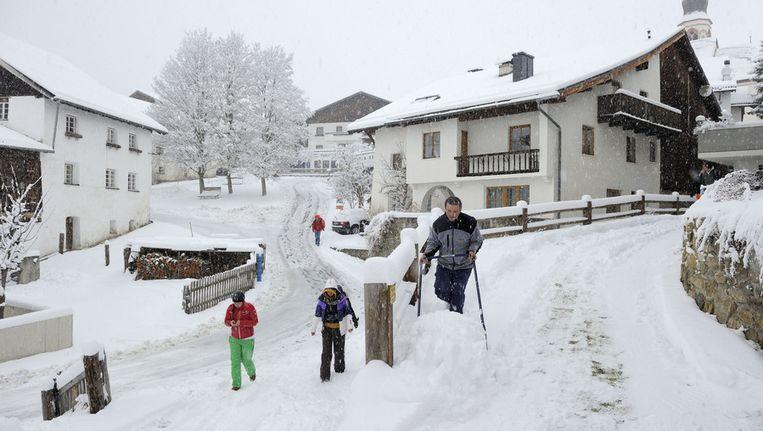 De afgelopen 24 uur heeft het hevig gesneeuwd in Tirol. © ANP Beeld