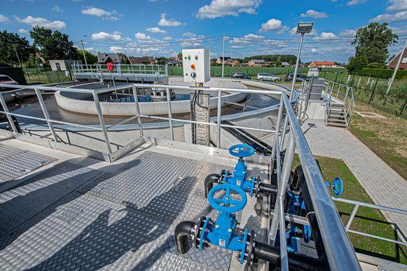 De nieuwe zuiveringsinstallatie van Aquafin  in Oude Passendalestraat.